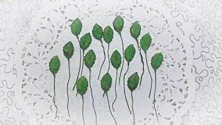Как сделать листья розы из бумаги своими руками. Скрапбукинг. Мастер класс.(Привет друзья! В этом видео я показываю свой вариант быстрого изготовления листьев розы для скрап работ...., 2016-07-11T11:12:46.000Z)