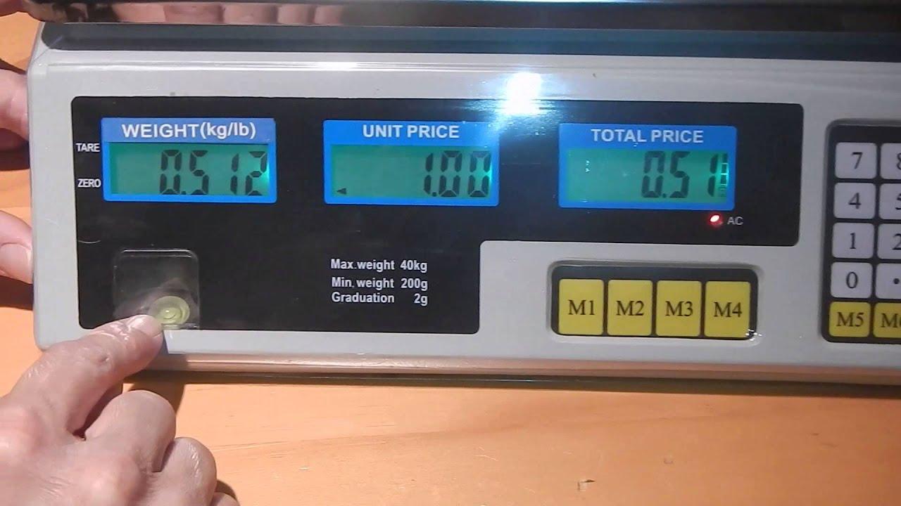 Ohuhu 60LBS Electronic Price Computing Food Scale / Digital Food Scale