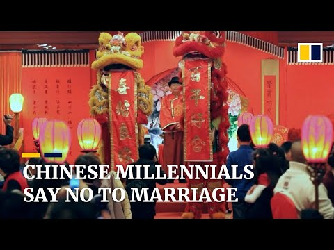 Number of marriages drops in China as more young people say no