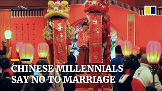 Download Number of marriages drops in China as more young people say no