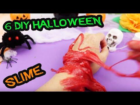 Te atreves a hacer SLIME en Halloween? 6 tenebrosos DIY | Manualidades aPasos