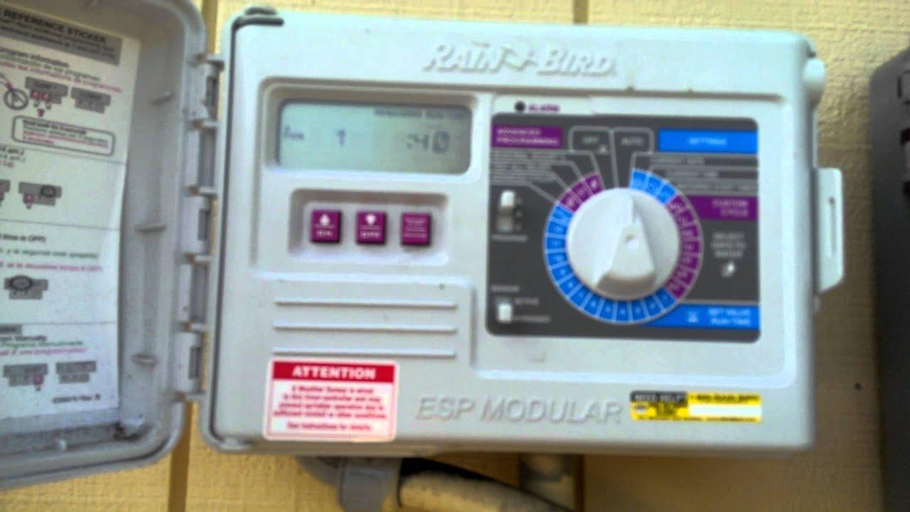 Manual operation of older Rainbird ESP timer