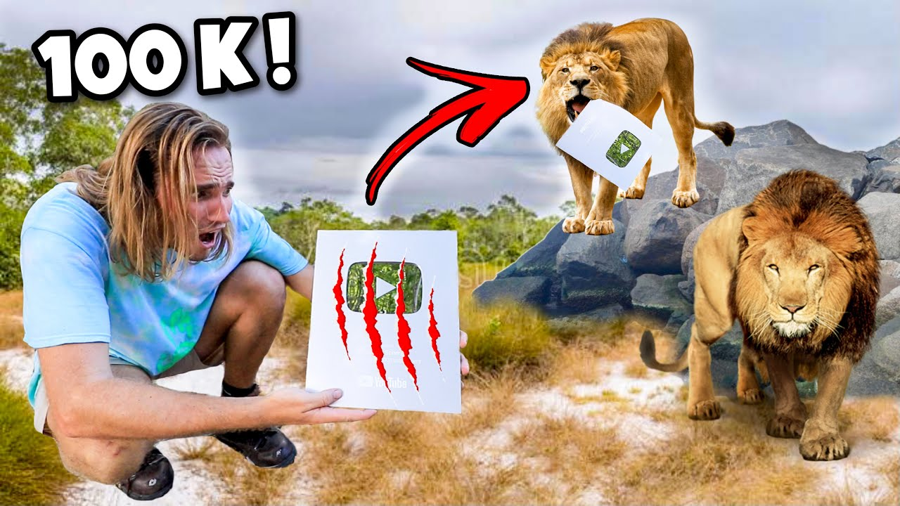 LION PRIDE SHREDS 100K SILVER PLAY BUTTON ! UNBOXING !!