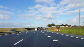 Dashcam Utrecht: A27 Knooppunt Lunetten》Afrit Hilversum (Nieuwe Spitsstrook: Buiten Gebruik).