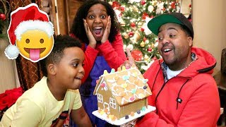 CHRISTMAS GINGERBREAD HOUSE SURPRISE! - Onyx Family