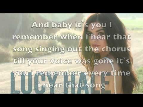 Lucy hale - red dress lyrics