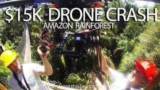 $15K AERIAL PHOTOGRAPHY DRONE HELICOPTER FLY AWAY CRASH / RESCUE in the AMAZON Rainforest!