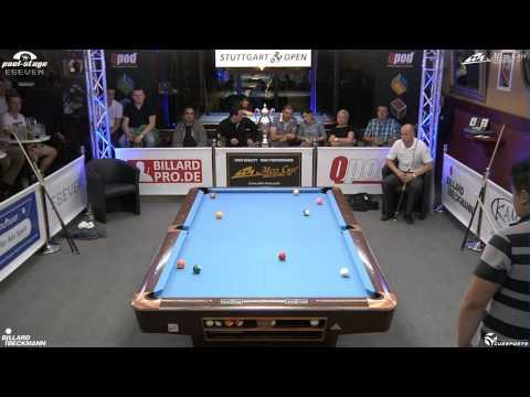 Stuttgart Open 2013, 21 Mario He vs Roman Hybler, 10-Ball, Pool-Billard, Cue Sports