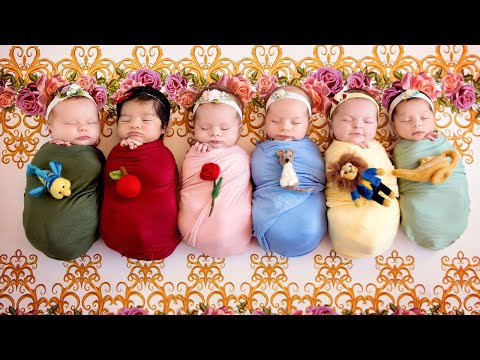 Thumbnail: Newborns Transformed into Disney Princesses by Photographer