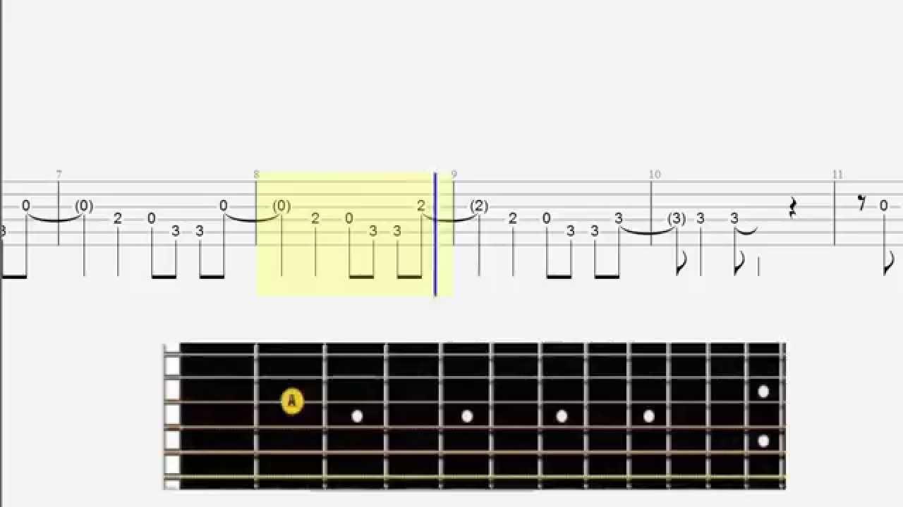 Guitar tab - Easy Guitar - Demons - Big Fingerboard - Melody - YouTube