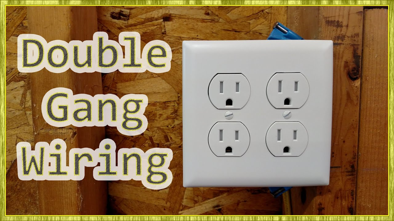 adding outlets double receptacle wiring youtube rh youtube com double plug wiring diagram double duplex receptacle wiring