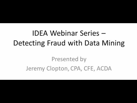 Detecting Fraud with Data Mining