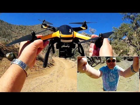 Hubsan X4 Pro FPV Drone Mining Camp Exploration