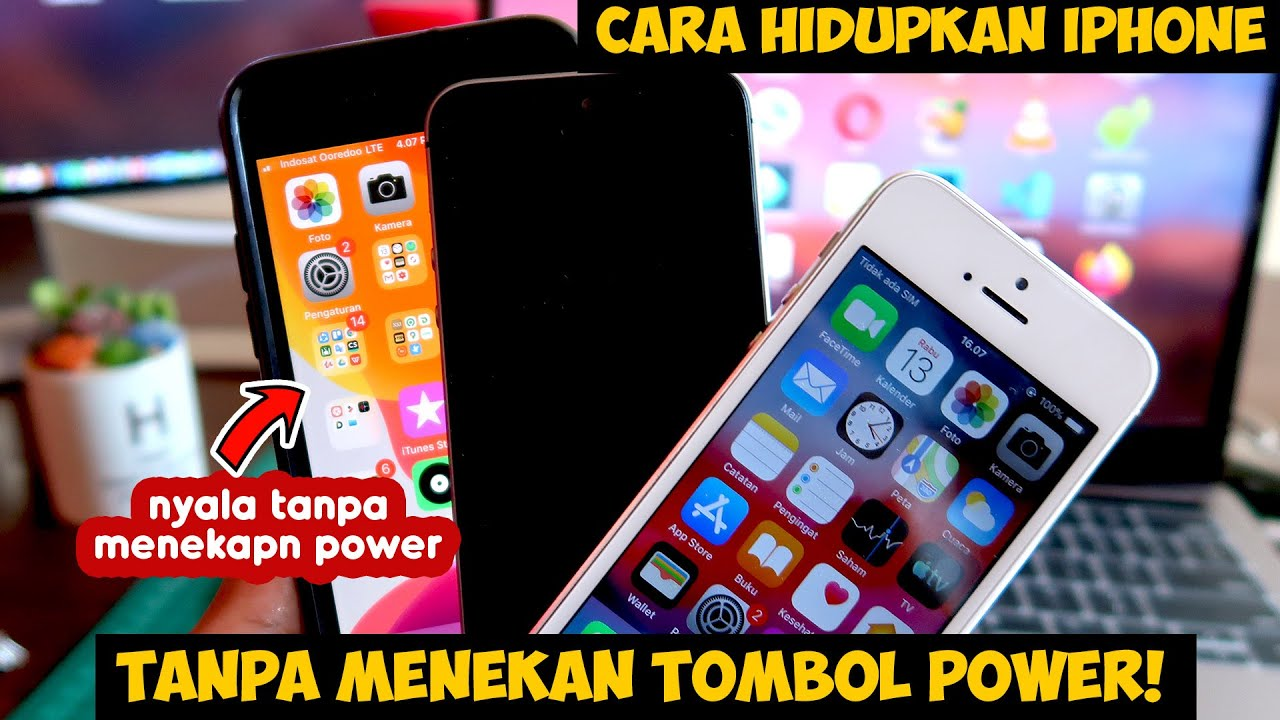 Cara Menghidupkan iPhone Mudah Tanpa Tombol Power Sama Sekali