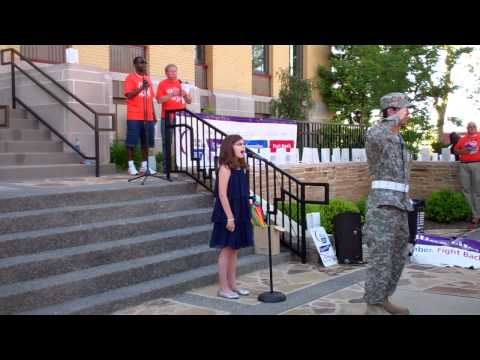 Alex Tippett Sings National Anthem at Ripley, Tennessee Relay for Life May 6th, 2011