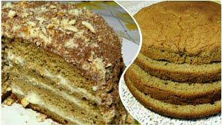 МЕГА Кофейный Торт Лате 😍 Любимый кофейный бисквит!