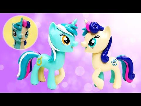 My Little Pony Custom Split Pony LYRA and BON BON Sweetie Drops