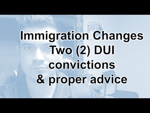 Two (2) DUI convictions affects immigration relief. New decision out.