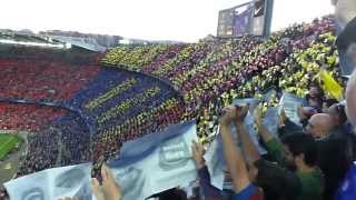 Barca song before the champions league game of fc barcelona vs. bayern munich on may 1st, 2013