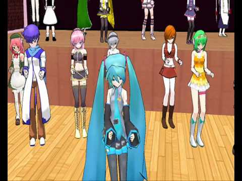 let's dance caramelldansen with vocaloid and more characters