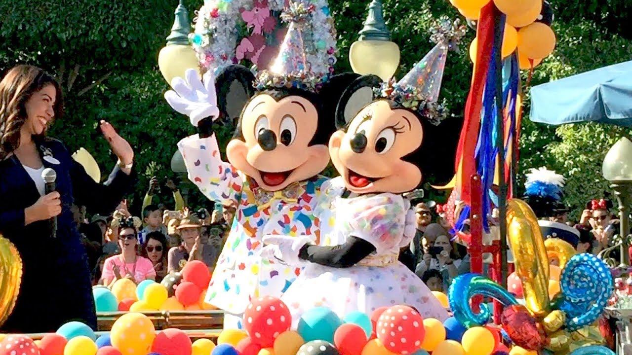 Mickey Minnie Mouse 90th Birthday Disneyland Parade W Ninety Disney Characters Some Rare Youtube