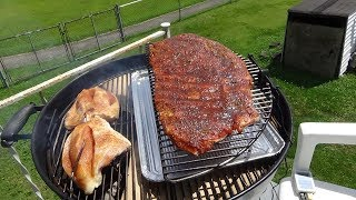 The Direct Open Pit Grill/Indirect Reverse Flow Smoker Weber Kettle Mod!