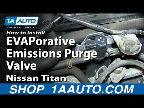 How To Replace EVAPorative Emissions Purge Valve Nissan Titan