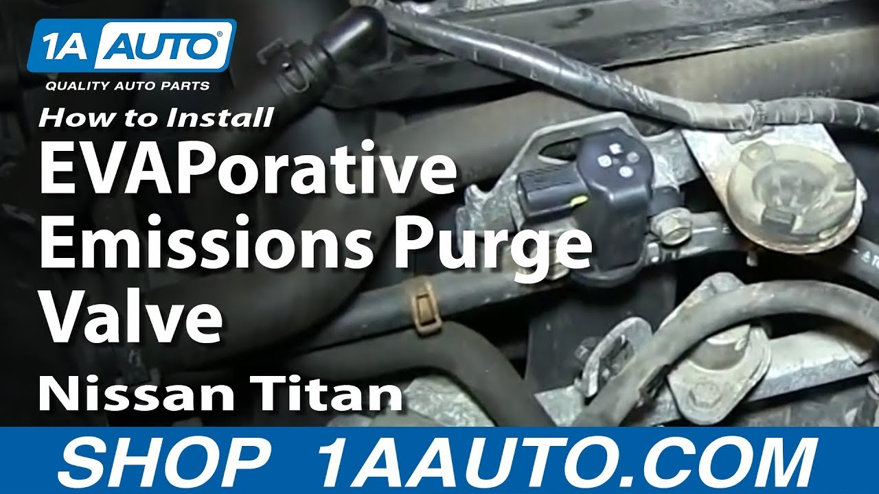 how to replace evaporative emissions purge valve nissan titan [ 1280 x 720 Pixel ]
