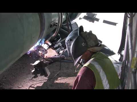 Universal Bug-O-Matic welding pipe