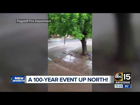 Flagstaff storm brings 100-year event to Arizona