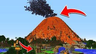 як зробити в майнкрафт вулкан