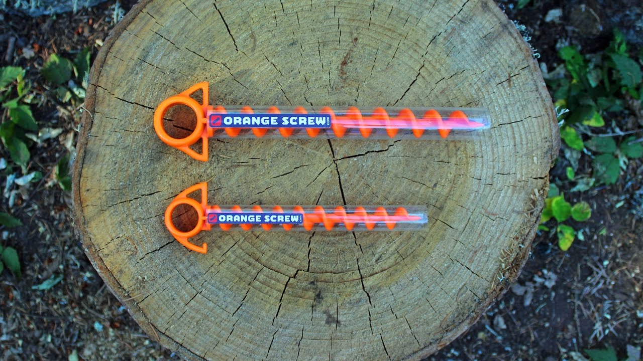 Orange Screw™ Ground Anchor // Set of 8 // Small video thumbnail