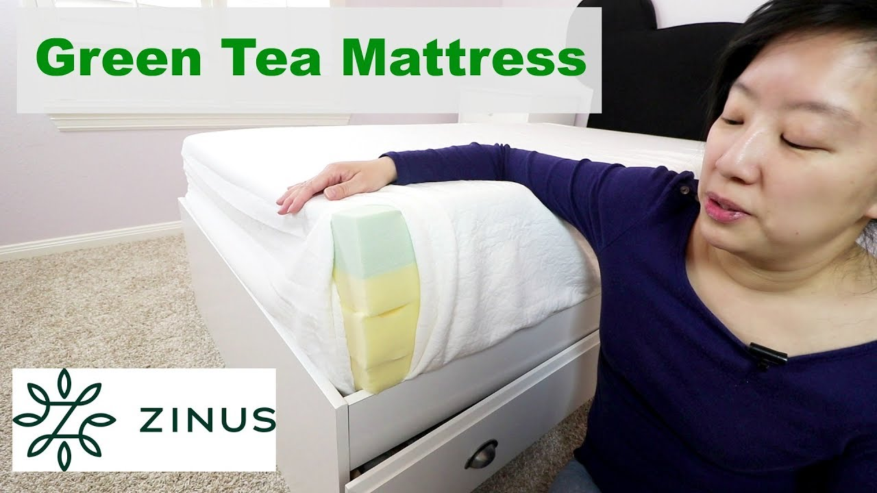 Zinus Green Tea Memory Foam Mattress Review Youtube