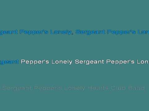 Sgt Peppers Lonely Hearts Club Band Reprise THE BEATLES Karaoke