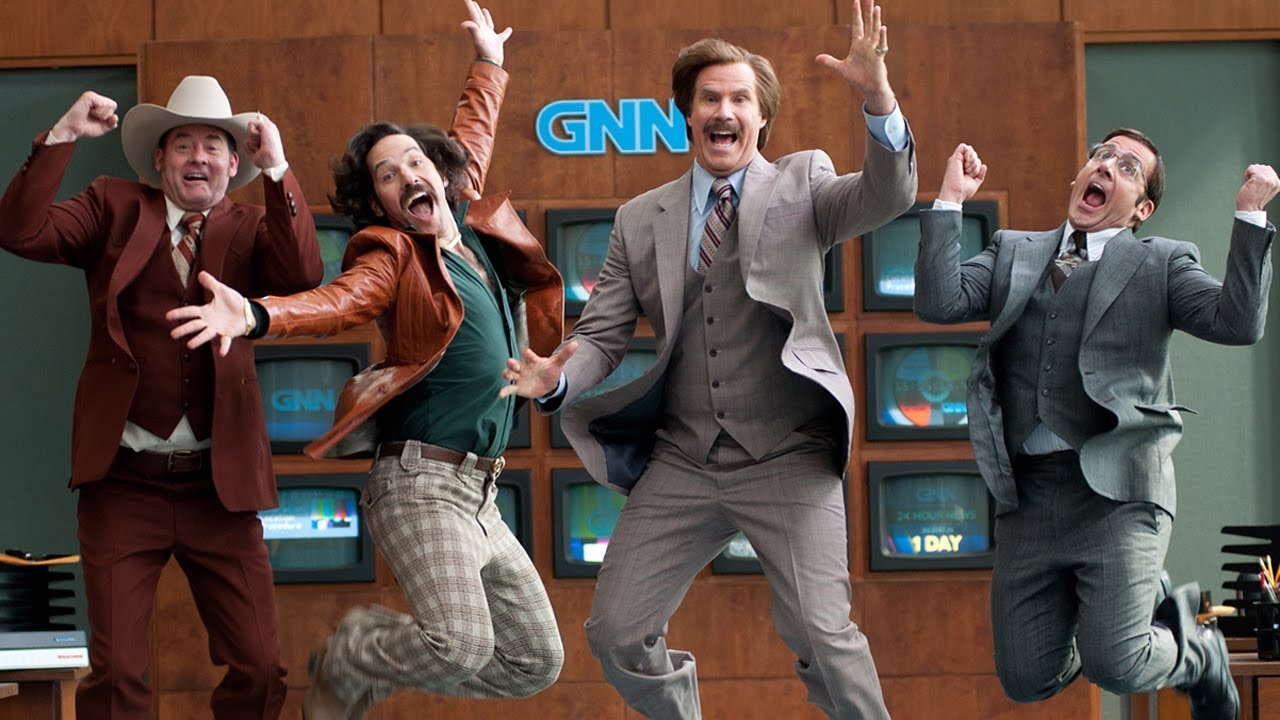 Anchorman 2 cast interview youtube - Will ferrell one man show ...
