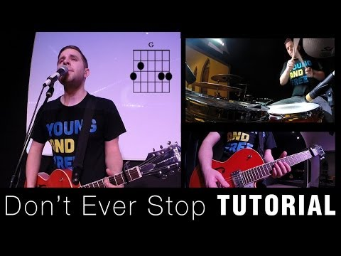 Don't Ever Stop - Chris Tomlin (Guitar & Drum TUTORIAL HD) [Live @ Passion 2014]