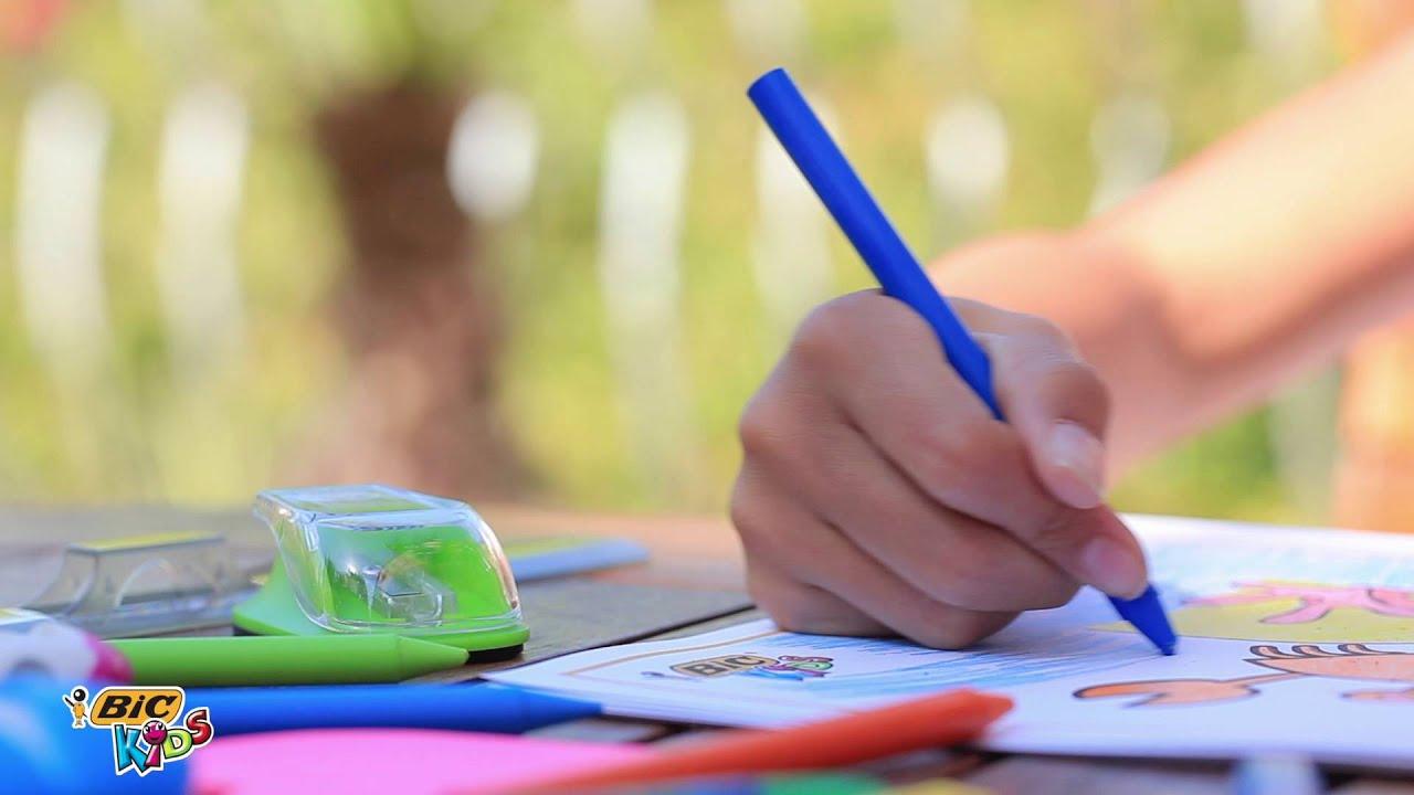 Using BIC Plastidecor coloring crayons - 2016 video - YouTube