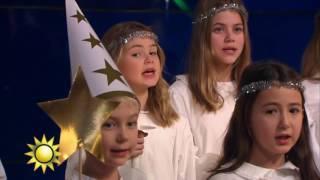 Luciakören sjunger Lusse Lelle - Nyhetsmorgon (TV4)