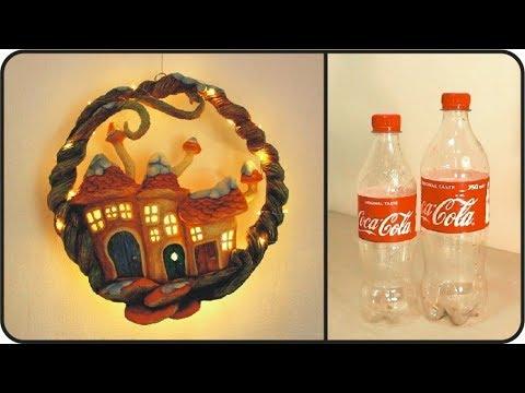 Diy Christmas Wreath Using Coke Plastic Bottles Youtube
