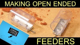 Making open ended fishing feeders using sand casting