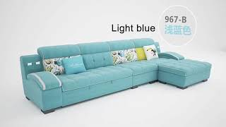 Reconfigurable Deep Seating Couch Sectional Living Room Combination Corner Sofa Bed Set 4 5 7 Seater
