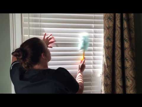 Dusting & Wet Wiping Window Blinds