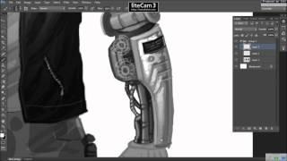 digital illustration Character design time lapse pt1