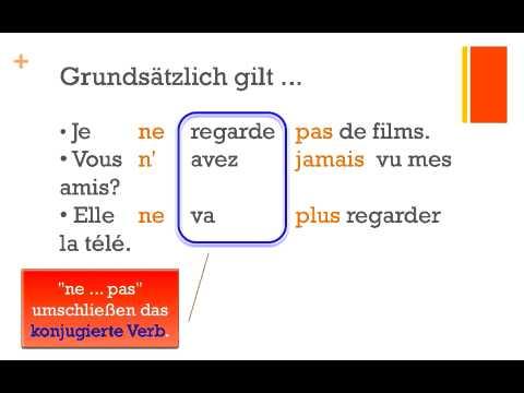 Die Verneinung Im Französischen Teil 1 Ne Pas Plus