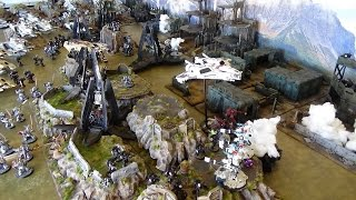 Apocalypse 40k Battle Report Tau & Eldar vs Space Marines & Grey Knights 10,000