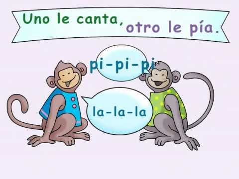 "Two Little Monkeys Poem: ""Dos Monitos"" - Calico Spanish Songs for Kids"