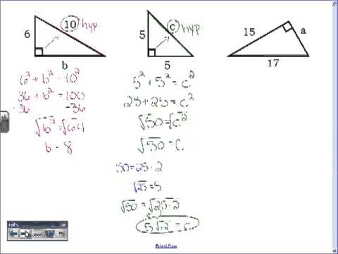 Geometry 4.4 Pythagorean Theorem and Distance Formula - YouTube