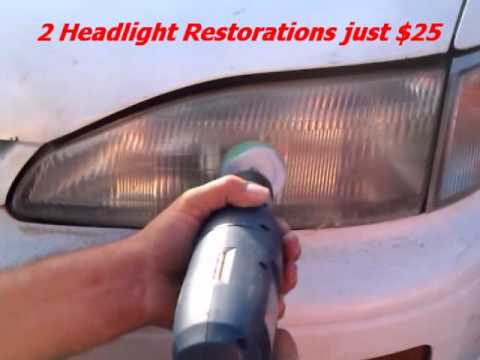 A Fast Fix Car Headlight Glass Chip Crack Repair Youtube