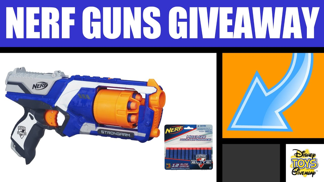 Free Stuff NERF GUNS GIVEAWAY Contest 55 OPEN Nerf War Nerf Elite Strongarm Blaster Nerf Darts