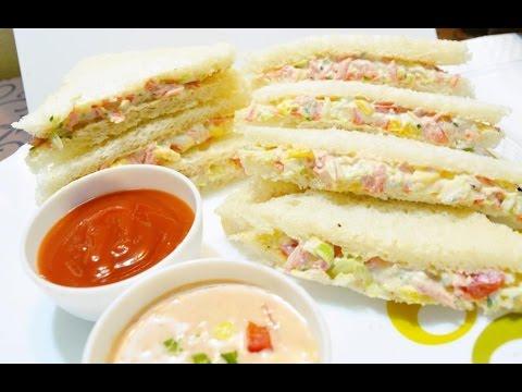 VEG MAYO SANDWICH | घर पर 5 मिनट में बनायें वेज मेयो सैंडविचKIDS LUNCH BOX RECIPE | BREAKFAST RECIPE
